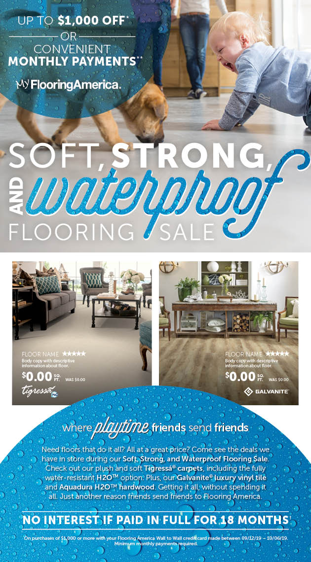 Soft, Strong and Waterproof Flooring Sale